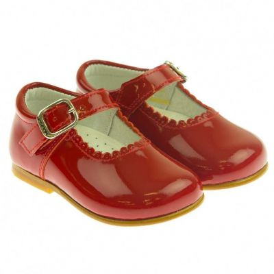Andanines Red Patent Baby Mary Jane Shoes