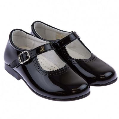 Andanines Black Patent Mary Jane Shoes