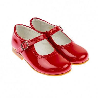 Andanines Red Patent Mary Jane Shoes
