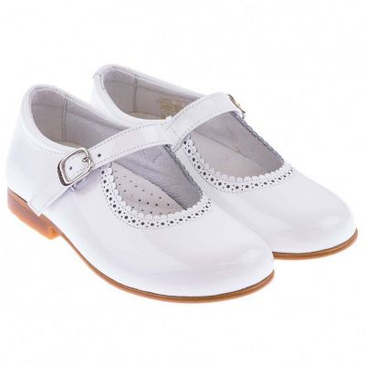 Andanines White Patent Mary Jane Shoes