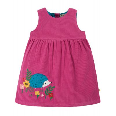Frugi Girls Lily Cord Hedgehog Dress DRA009