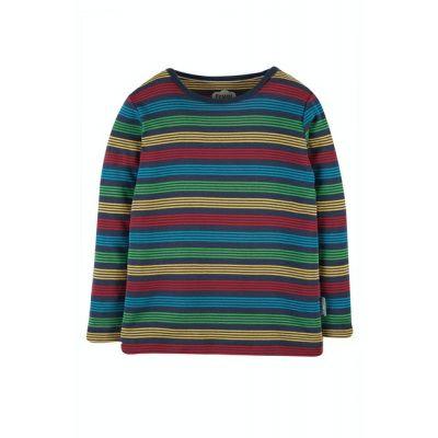 Frugi Boys Favourite Rainbow Striped Top TTA020
