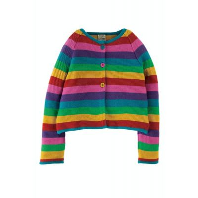 Frugi Girls Rainbow Striped Cardigan KWA017