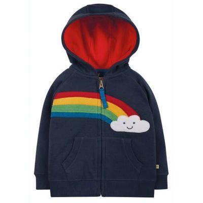 Frugi Hayle Navy Rainbow Hoody HDA103