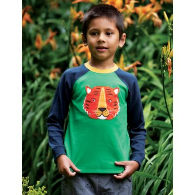 Frugi Jake Applique Tiger Top TTS127