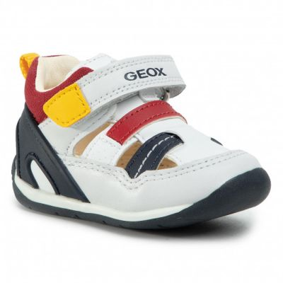 Geox Boys Each White Sandal B020BA 08554 C0899
