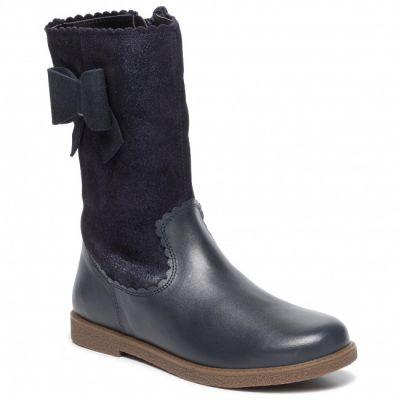 Geox Girls Navy Boot J944EA 07743 C4021
