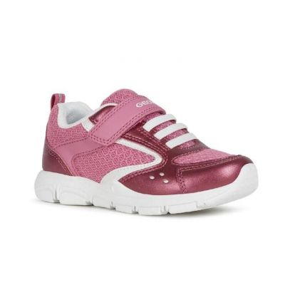 Geox Girls Pink Torque Trainer J028HA 0NF14 C0886