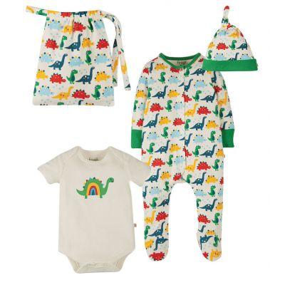 Frugi Baby Rainbow Dinos Gift Set GSS104