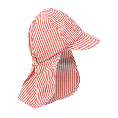 Frugi Baby Boys Red Stripe Legionnaires Hat HAS005