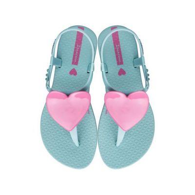 Ipanema Girls Aqua Heart Sandals