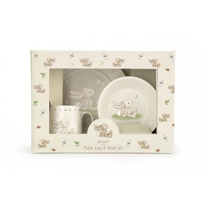 Jellycat Bashful Bunny China Crockery Set