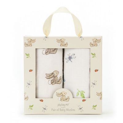 Jellycat Bashful Bunny Muslin Duo Set