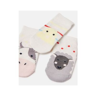 Joules Baby 6 Pack Animal Socks