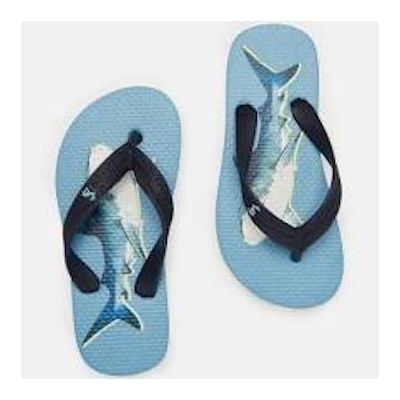 Joules Boys Blue Shark Flip Flops