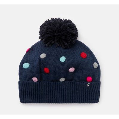 Joules Girls Bella Navy Bobble Hat