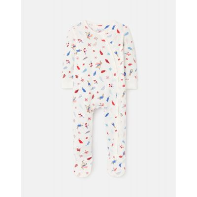 Joules Peter Rabbit Leaves Zippy Baby Grow