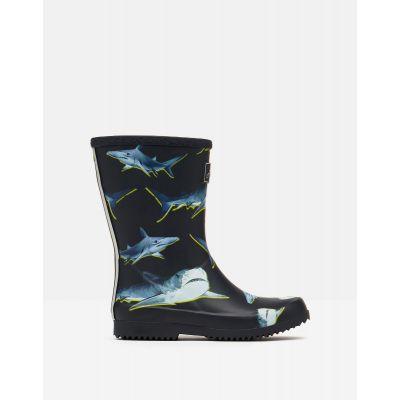 Joules Shark Print Wellies