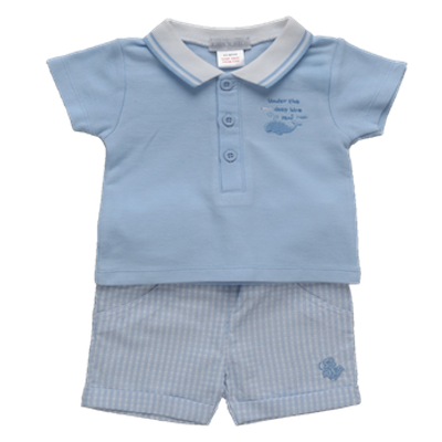 Kris X Kids Baby Boys Polo Short Set 6010B