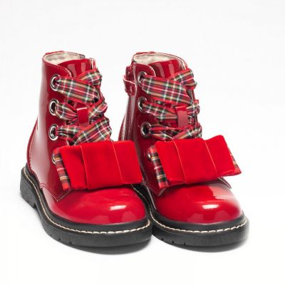 Lelli Kelly Girls Red Patent Boots LK6524