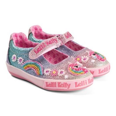 Lelli Kelly Pink Unicorn Shoes LK1082