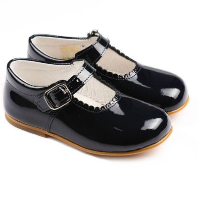 Andanines Navy Patent Baby Mary Jane