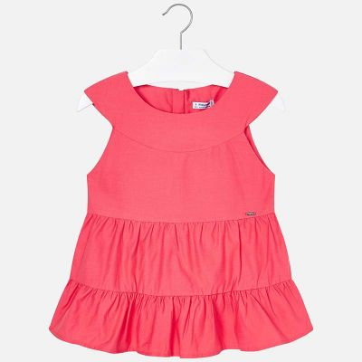 Mayoral Girls Coral Blouse 6103