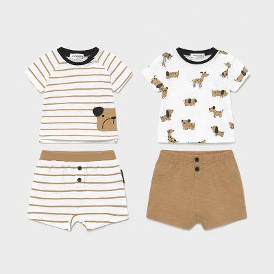 Mayoral Baby Boys Caramel Short Sets 1646