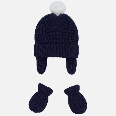Mayoral Baby Boys Hat & Mittens Set 9180