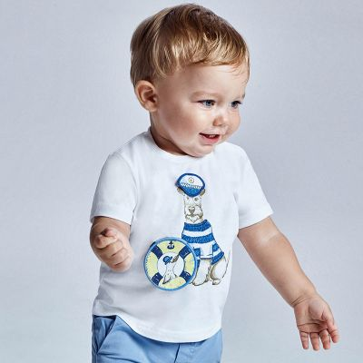 Mayoral Baby Boys Lime Dog T-Shirt 1007