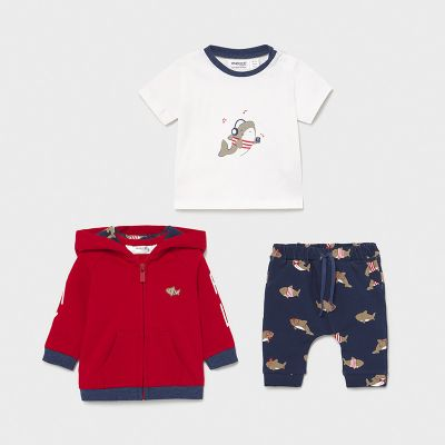 Mayoral Baby Boys Red Shark Tracksuit 1841