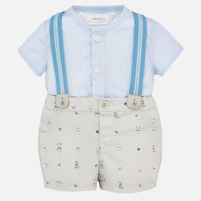 Mayoral Baby Boys Shorts & Braces Set 1272