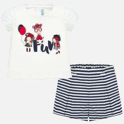Mayoral Baby Girls Navy Short Set 1210