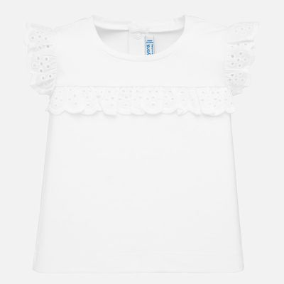 Mayoral Baby Girls White Ruffle Top 1061