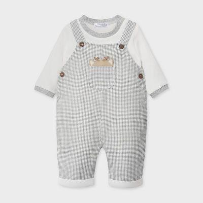 Mayoral Baby Grey Dungaree Set 2637