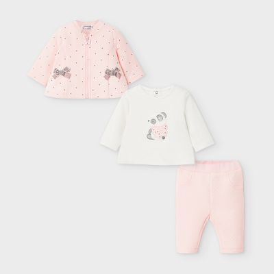 Mayoral Baby Pink 3 Piece Tracksuit 2629