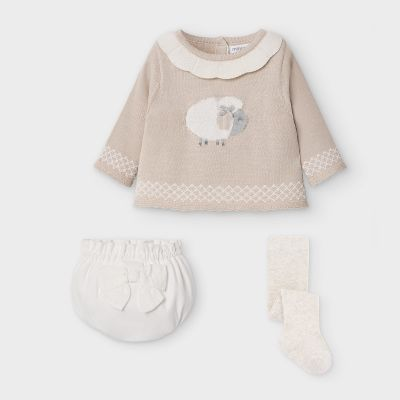 Mayoral Baby Sheep Short and Jumper Set 2212