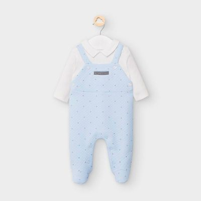 Mayoral Blue Baby Padded Onesie Babygrow 2633