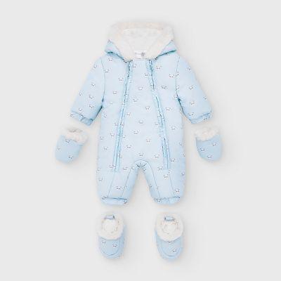 Mayoral Blue Baby Panda Snowsuit 2632