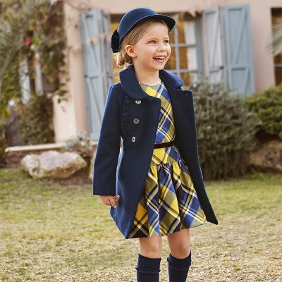 Mayoral Girls Navy Coat 4409