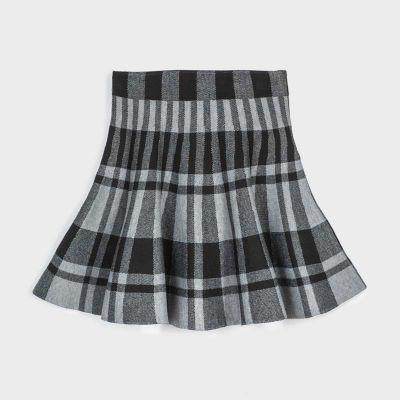Mayoral Grey Checked Skirt 7945