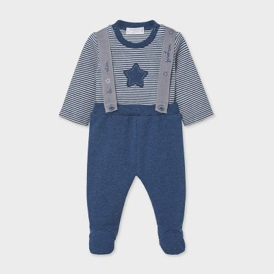 Mayoral Navy Baby Star Footed Leggings Set 2555