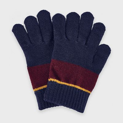 Mayoral Navy/Burgundy Gloves 10884