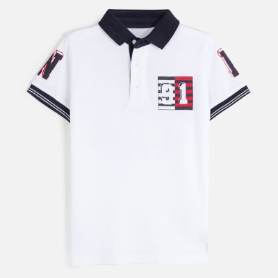 Mayoral Older Boys White Polo Top 6144