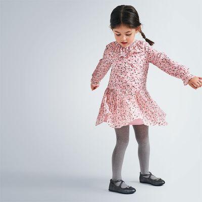 Mayoral Pink Chiffon Heart Dress 4975