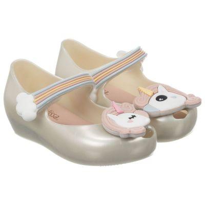 Mini Melissa White Unicorn Shoe