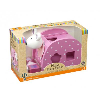 Orange Tree Pink Mouse Shape Sorter Toy