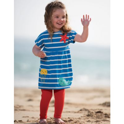 Frugi Baby Girls Olive Blue Legging Set OFS004
