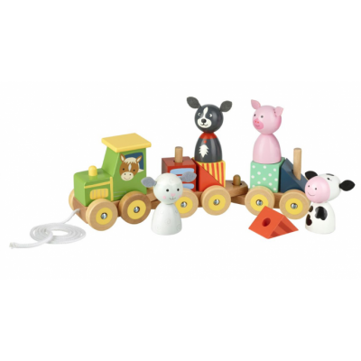 Orange Tree Toys Farm Puzzle Train