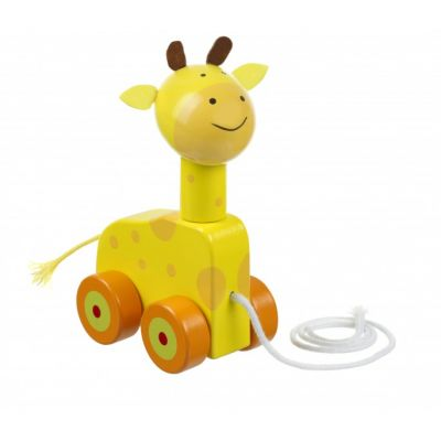 Orange Tree Giraffe Push Along Toy